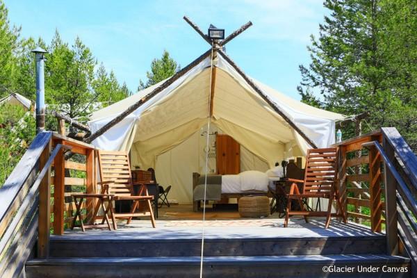 Glacier Under Canvas - Deluxe Tent - rondreis Amerika, opDroomreis.nu