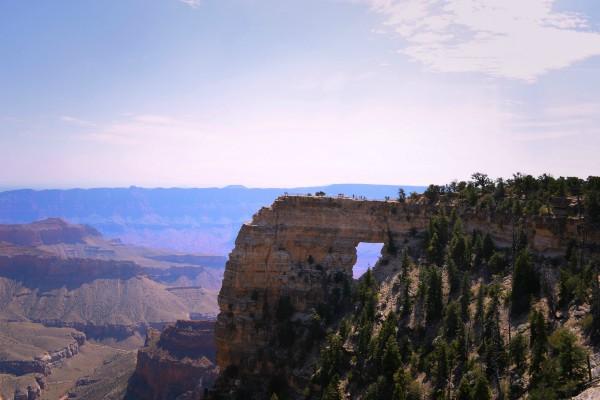 Grand Canyon NP, North Rim, Angels Window, rondreis Amerika - opDroomreis.nu