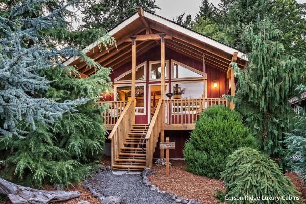 Hood River, Oregon, Carson Ridge Luxury Cabins - rondreis Amerika, opDroomreis.nu