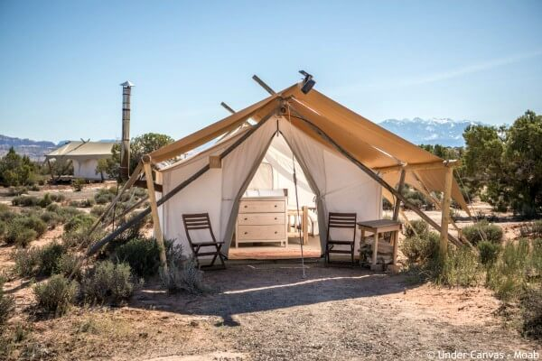 Moab, Moab Under Canvas, safari tent - rondreis Amerika, opDroomreis.nu