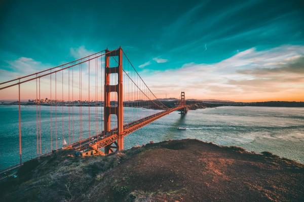 San Francisco, Sausalito Golden Gate Bridge, rondreis Amerika - opDroomreis.nu