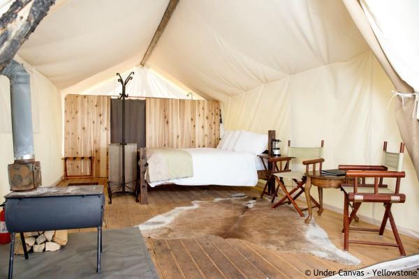 Yellowstone NP, Yellowstone Under Canvas, deluxe tent - rondreis Amerika, opDroomreis.nu