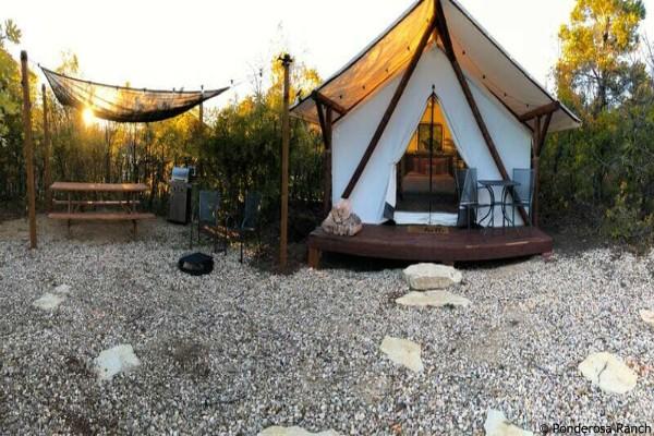Zion NP, Ponderosa Ranch, glamping tent - rondreis Amerika, opDroomreis.nu