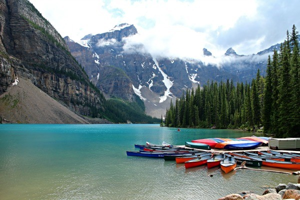 Banff NP, Moraine Lake, rondreis West-Canada - opDroomreis.nu