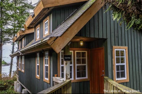 Ucluelet, The Cabins at Terrace Beach, Karma House, rondreis West-Canada - opDroomreis.nu