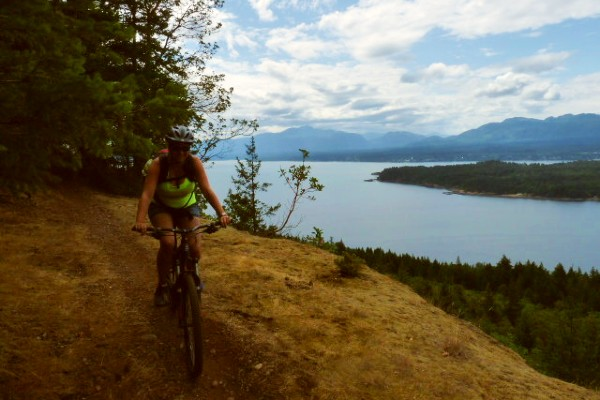 Vancouver Island, Hornby Island mountainbiking, rondreis West-Canada - opDroomreis.nu
