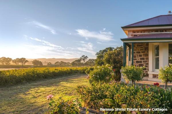 Barossa Valley, Barossa Shiraz Estate Luxury Cottages - rondreis Australië, opDroomreis.nu