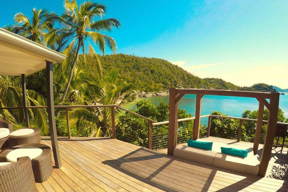Bedarra Island, Bedarra Island Resort, Bedarra Treehouse Deck - rondreis Australië, opDroomreis.nu