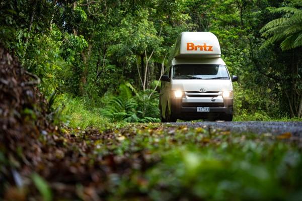 Britz, regenwoud, camperreis - rondreis Australië, opDroomreis.nu