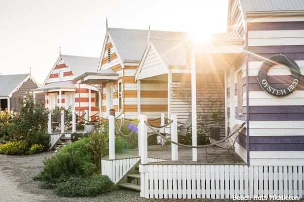 McLaren Vale, Beach Huts Middleton, huisjes - rondreis Australië, opDroomreis.nu