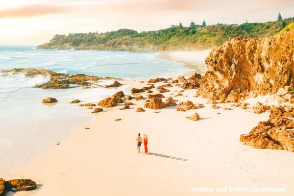 North Stradbroke Island, strandwandeling - rondreis Australië, opDroomreis.nu