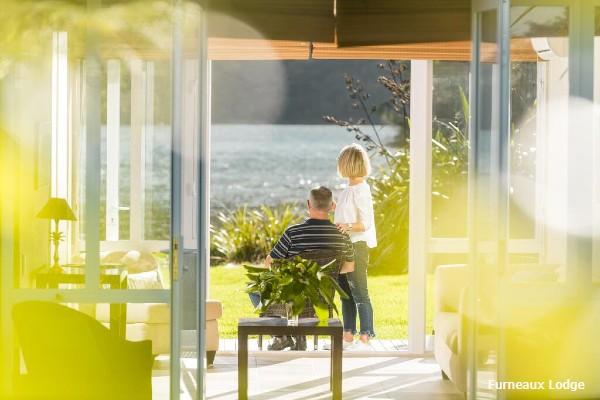 Marlborough Sound, Furneaux Lodge, couple - rondreis Nieuw-Zeeland, opDroomreis.nu