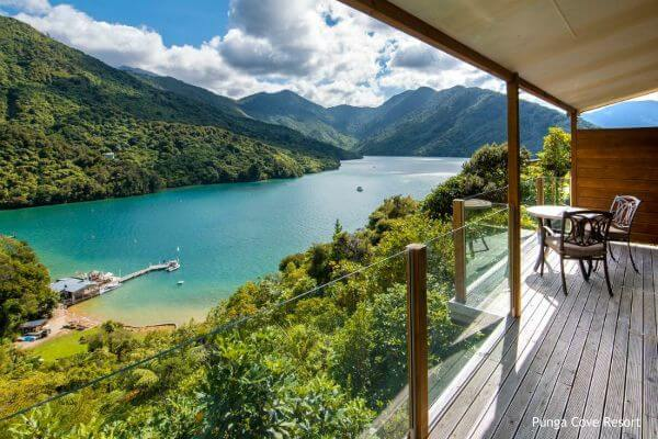Marlborough Sound, Punga Cove Resort - rondreis Nieuw-Zeeland, opDroomreis.nu